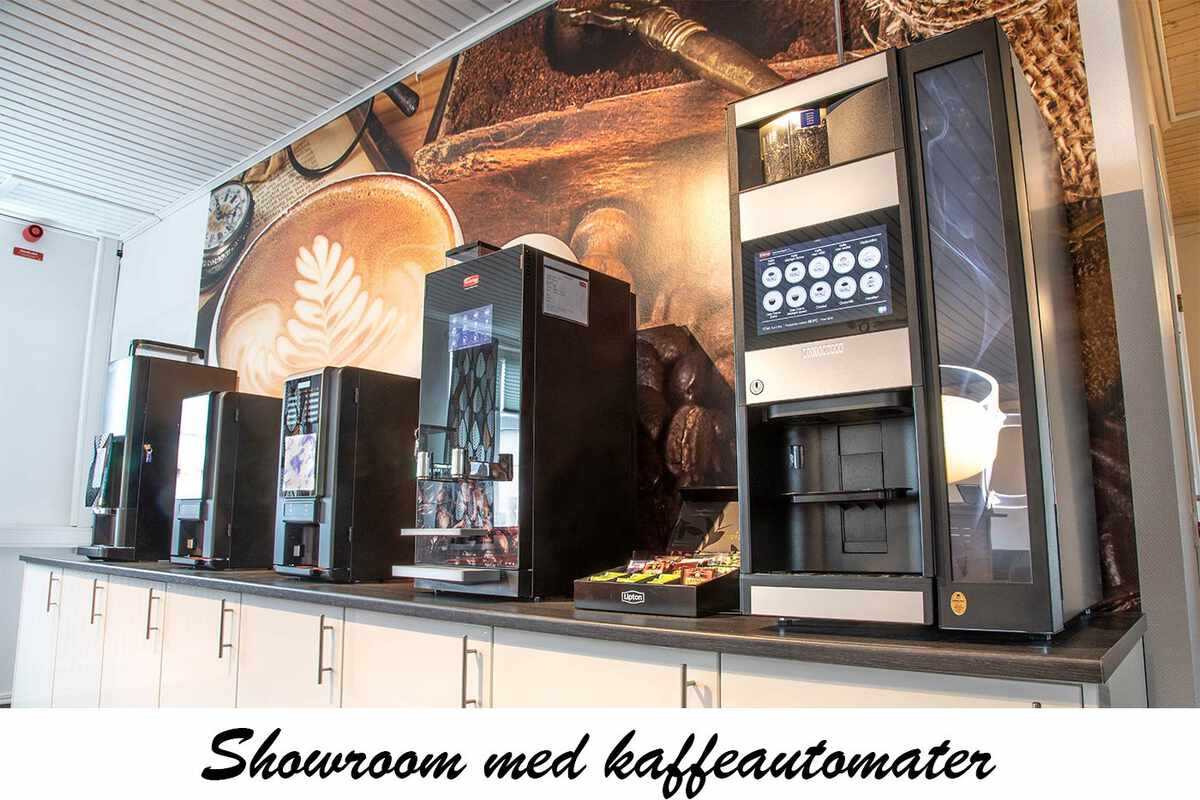 Showroom med kaffeautomater