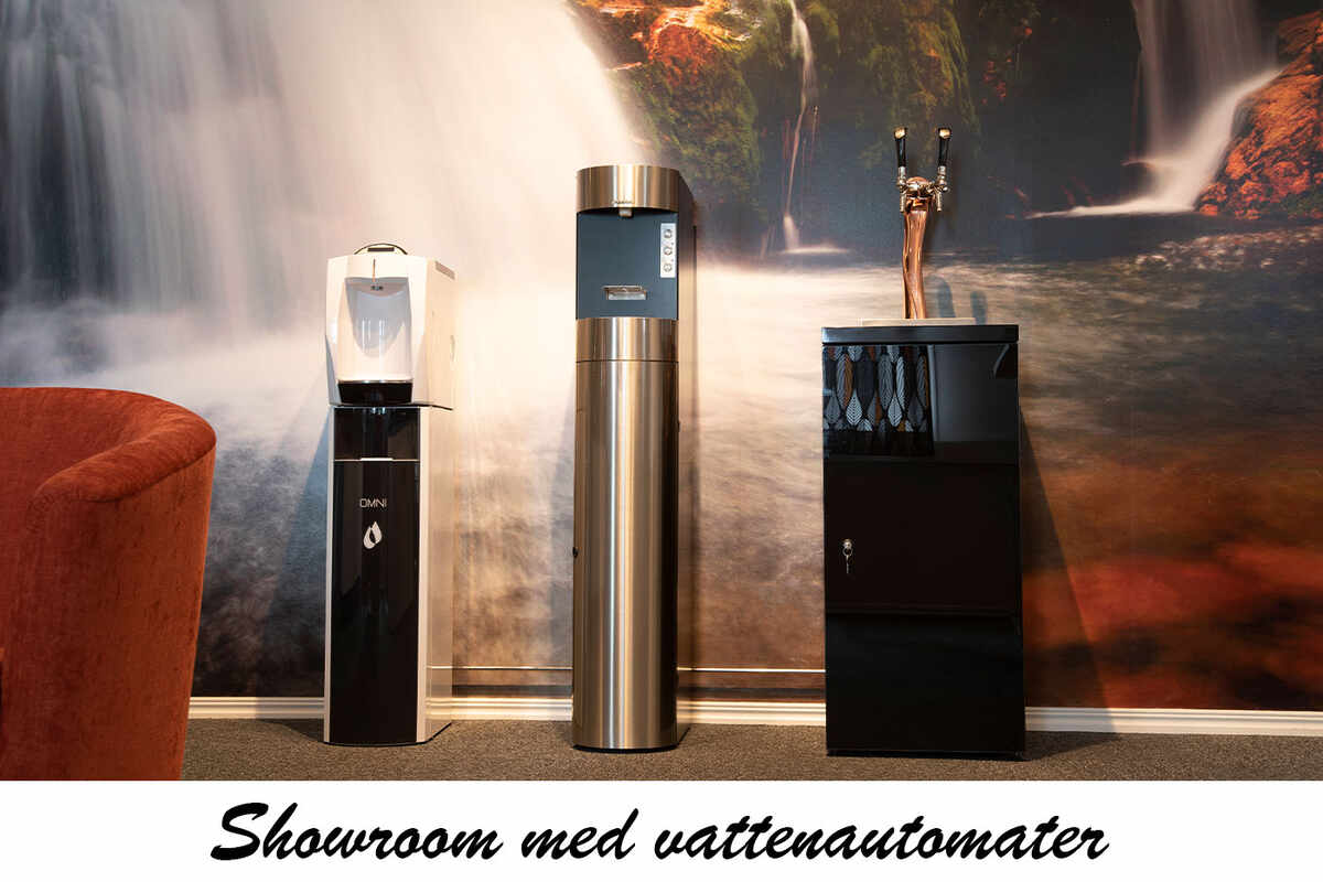 Showroom med vattenautomater