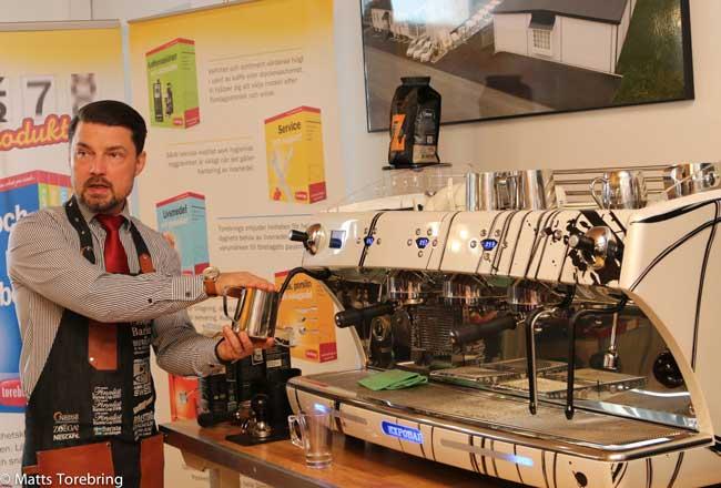 Coffee Professionals Basic Barista kaffeutbildning