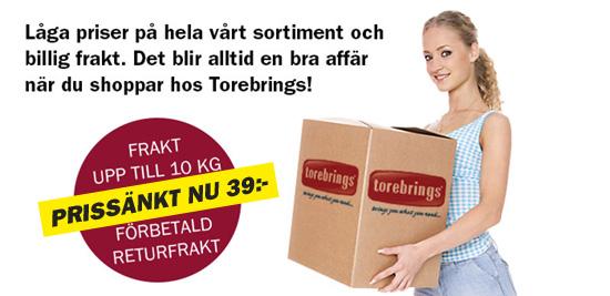 Lägre fraktpris Torebrings