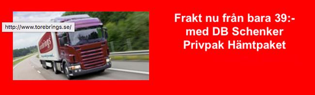 LÄgre fraktpriser hos Torebrings vid leverans med Privpak