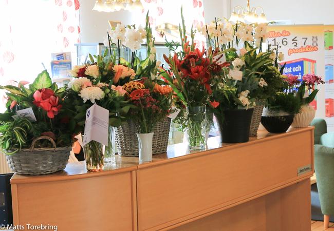 Matts Torebrings 40-års jublieum blommor