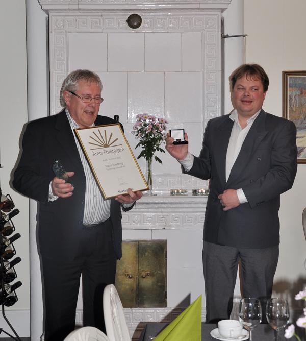 Prisutdelning Årets företagare 2012 Torebrings